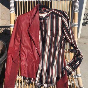 Veronica Beard silk striped blouse